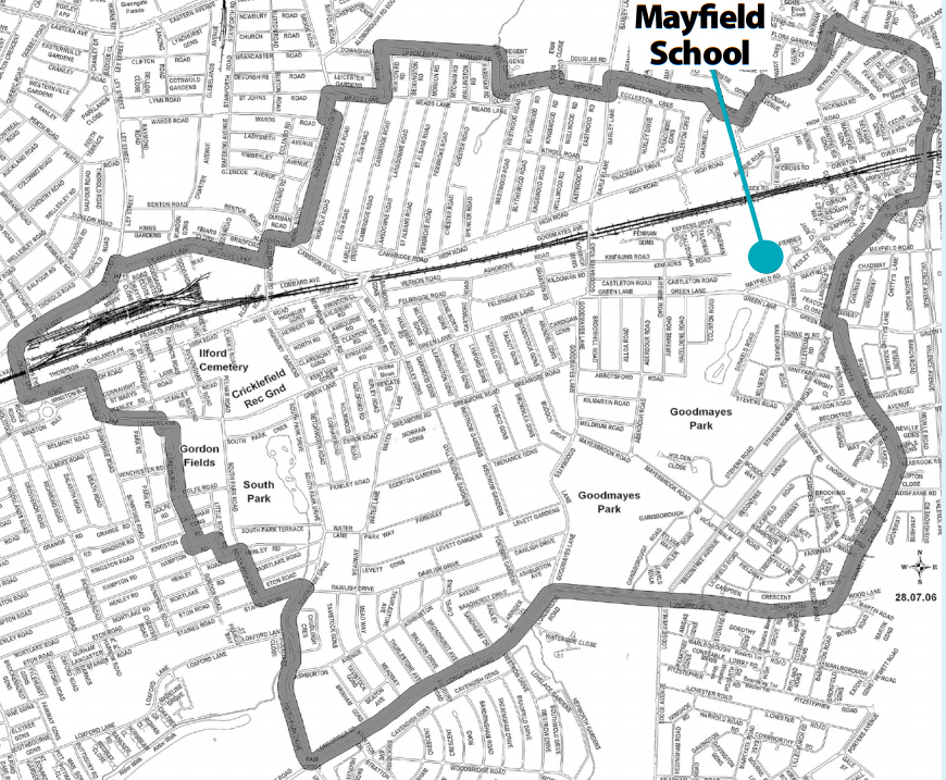 Mayfield Catchchment Area