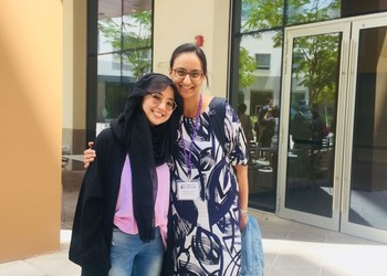 Teacher visits Alumni in Abu Dhabi