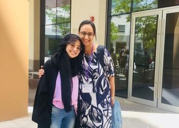 Teacher visits Alumni in Abu Dhabi