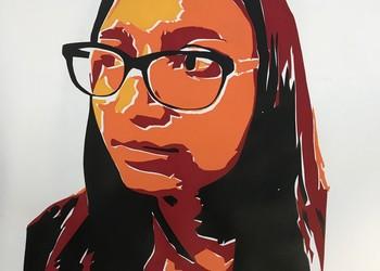 Year 11 Art - Self-Portraits based on Shepard Fairey.